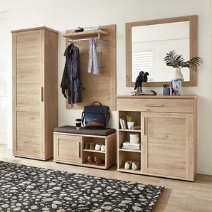 Garderoben Komplettset in Eichefarben modern (5-teilig)