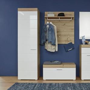 Garderoben-Set , beige, »Amanda«, Hochglanz-Fronten, trendteam