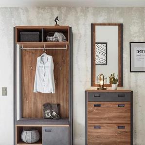 Home affaire Garderoben-Set , braun, »Detroit«, FSC®-zertifiziert