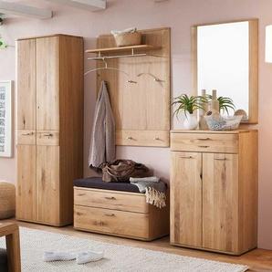 Garderoben Set in Eiche Bianco modern (5-teilig)