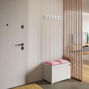 Garderoben-Set Konkor 60 (Schuhschrank und Kleiderhakenbrett) + 2 Stueck gepolsterte Sitzpaneele Pag 30x30