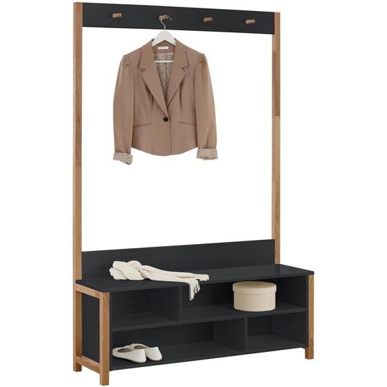 Garderoben-Set »Northgate«, FSC®-zertifiziert, Woodman, schwarz, Material Massivholz
