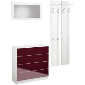 Garderoben-Set  »Vaasa 3«, weiß, Hochglanz-Fronten, borchardt Möbel