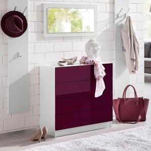 Garderoben-Set , weiß, »Vaasa 3«, Hochglanz-Fronten, Push to open-Funktion, borchardt Möbel