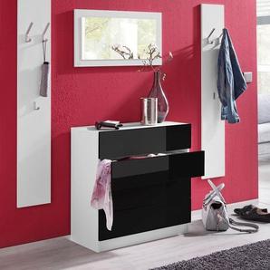 Garderoben-Set , weiß, »Vaasa 3«, Hochglanz-Fronten, borchardt Möbel