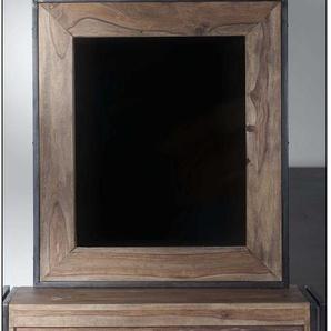 Garderoben Spiegel aus Sheesham Massivholz Industriedesign