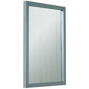 Garderoben Spiegel aus Stahl Nickelfarben