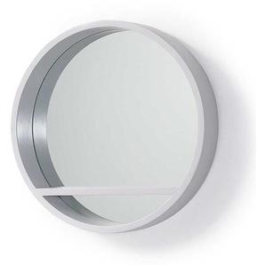 Garderoben Spiegel runde Form mit Holzrahmen