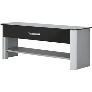 Garderobenbank - schwarz - 117 cm - 46 cm - 34 cm | Möbel Kraft