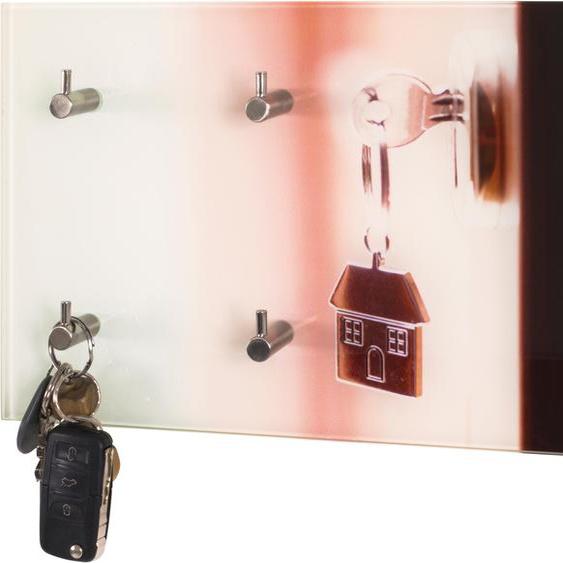 Garderobenhalter, 30x21x5 cm (BxHxT), HAKU, Material Sicherheitsglas