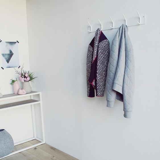 Garderobenhaken »FUSION«, 70x12x6 cm (BxHxT), Spinder Design, weiß, Material Metall