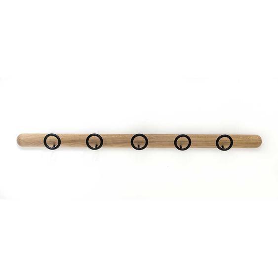 Garderobenhakenleiste aus Eiche Massivholz Stahl