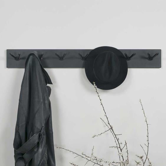 Garderobenhakenleiste aus Stahl 105 cm breit