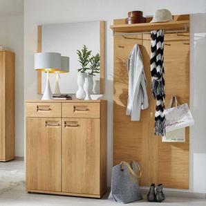 Garderobenkombination aus Wildeiche modern (3-teilig)