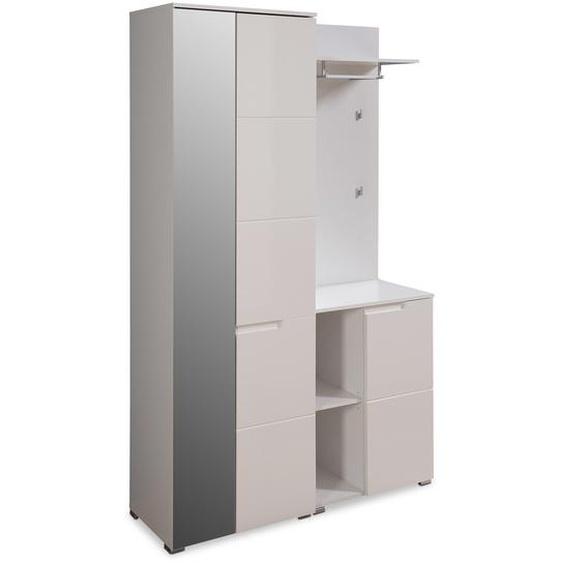 Garderobenkombination, Weiß, Lack / Hochglanz