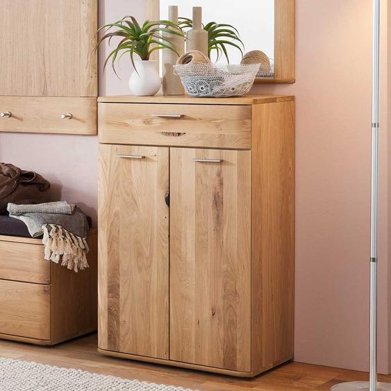 Garderobenkommode in Eiche Bianco 65 cm breit