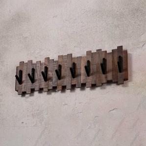Garderobenleiste aus Teak Recyclingholz Grey Wash Optik