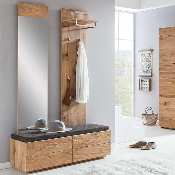 Garderobenmöbel mit Balkeneiche furniert modern (3-teilig)
