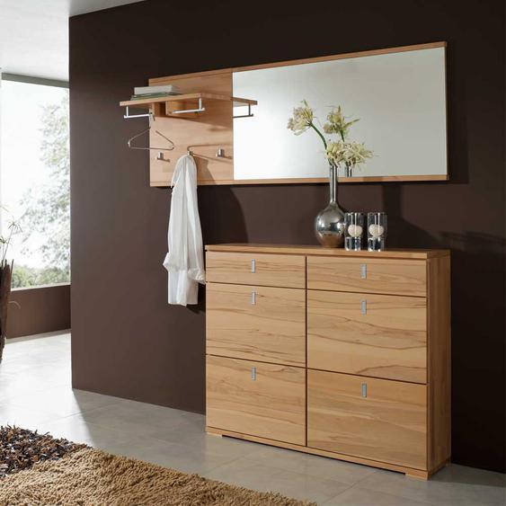 Garderobenmöbel Set aus Kernbuche Massivholz Made in Germany (3-teilig)