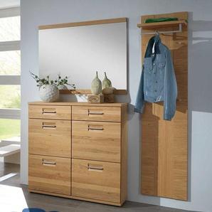 Garderobenmöbel aus Wildeiche modern (3-teilig)