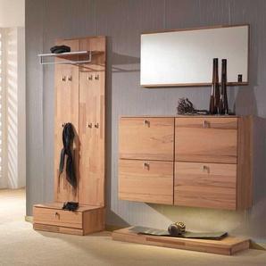 Garderobenm�bel Set aus Kernbuche Massivholz H�ngeschuhschrank (4-teilig)