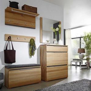 Garderobenm�bel Set aus Kernbuche Massivholz mit Schuhschrank (5-teilig)