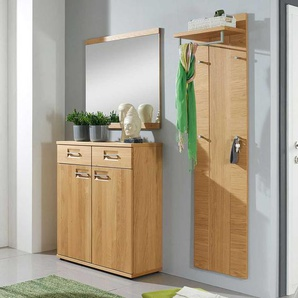 Garderobenmöbel Set aus Wildeiche modern (3-teilig)