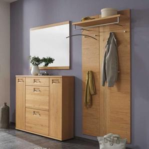 Garderobenmöbel Set aus Wildeiche teilmassiv online kaufen (3-teilig)
