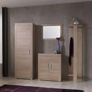 Garderobenmöbel Set in Eiche Sonoma komplett (4-teilig)