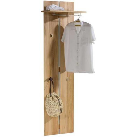 Garderobenpaneel aus Kernbuche Massivholz 60 cm
