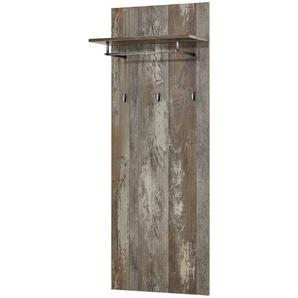 Garderobenpaneel  Halver | grau | 60 cm | 153 cm | 32 cm |