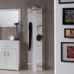 Garderobenpaneel in Weiß Ablage