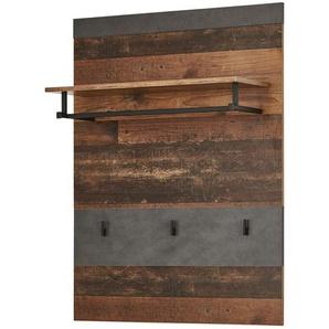 Garderobenpaneel  Inden | grau | 80 cm | 106 cm | 28 cm |