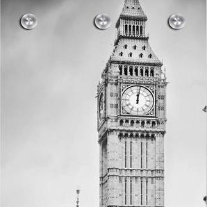 Garderobenpaneel »London«, grau, (B/H): 50/125 cm, 50x125cm,