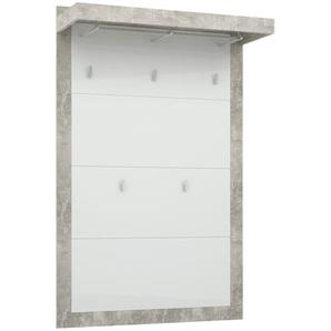 Garderobenpaneel  Mallin | grau | 94,9 cm | 147,7 cm | 34 cm |