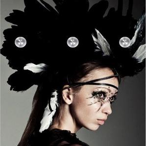 Garderobenpaneel , schwarz, (B/H): 50/125 cm, 50x125cm, »Frau mit Kopfschmuck«,