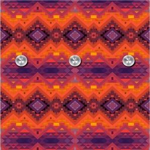 Garderobenpaneel »Orientalisches Muster«, orange, (B/H): 50/125 cm, 50x125cm,