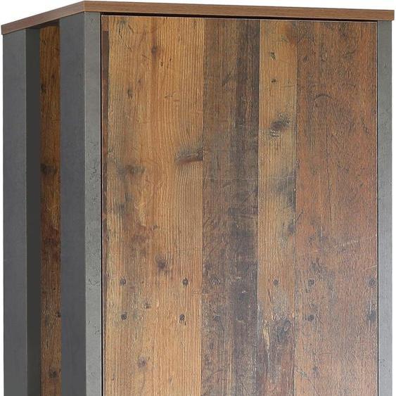 Garderobenschrank, 67 x 201,5 x 41,6 BxHxT cm , braun »Clif«, FORTE