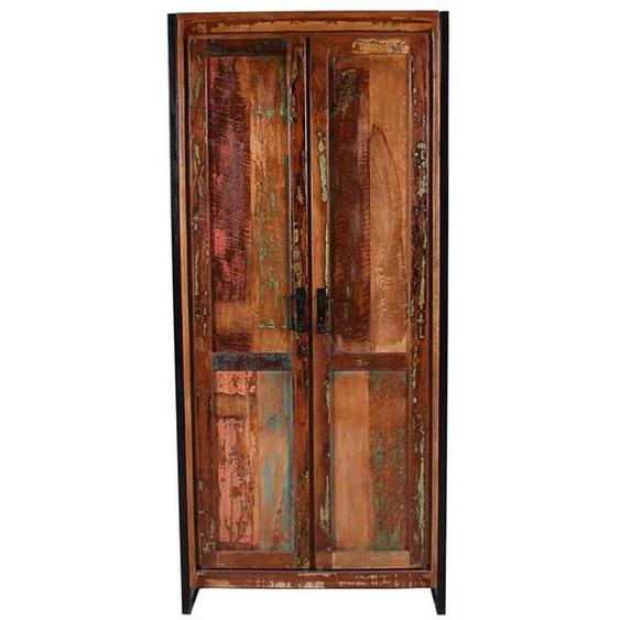 Garderobenschrank aus Massivholz Shabby Chic Look