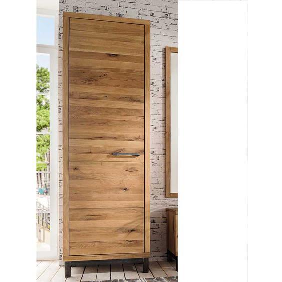 Garderobenschrank aus Wildeiche Massivholz rustikalen Landhausstil