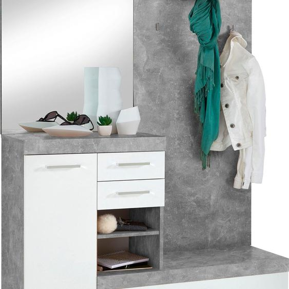 Garderobenschrank »Bristol«, 120x193.5x35.5 cm (BxHxT), FMD, Material Holzwerkstoff, Kunststoff, Metall, Melamin