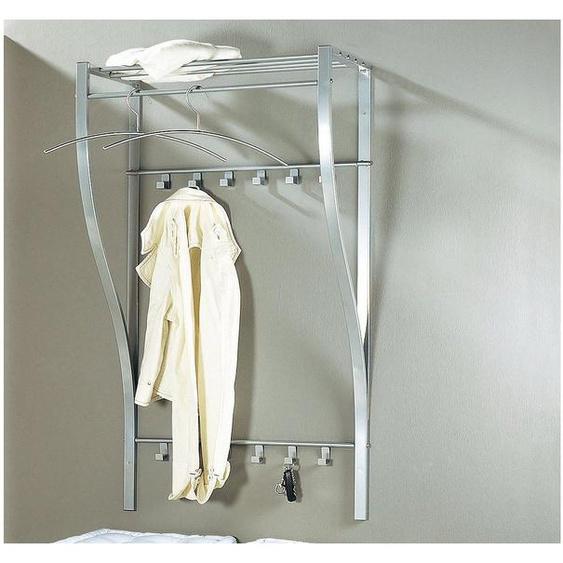 Garderobenschrank Einheitsgröße silberfarben Kompaktgarderoben Garderoben Schränke