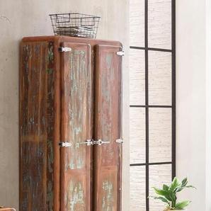 Garderobenschrank, 80 x 180 x 40 BxHxT cm , mehrfarbig, Material Altholz »Fridge«, SIT-Möbel