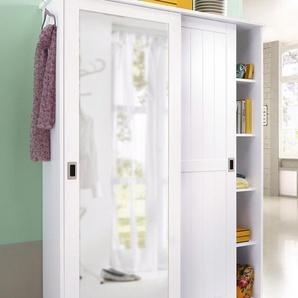 Home affaire Garderobenschrank »Nekso«, Landhaus-Stil, FSC®-zertifiziert, weiß
