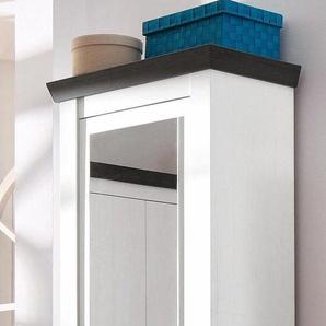 Home affaire Garderobenschrank mit Spiegel, weiß, FSC-Zertifikat, »Siena«, , , FSC®-zertifiziert