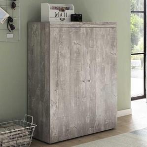 Garderobenschuhschrank in Beton Grau 80 cm breit