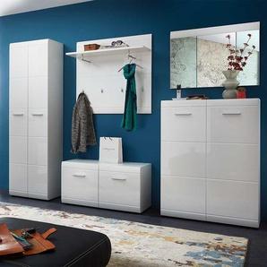 Garderobenset in Weiß modern (5-teilig)