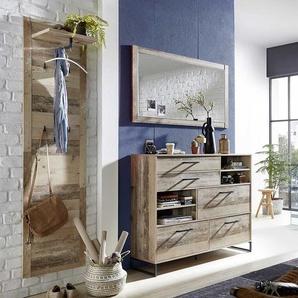Garderobenset in White Wash Altholz Optik Loft Design (3-teilig)