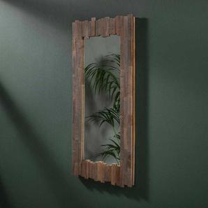 Garderobenspiegel aus Teak Recyclingholz 50 cm breit