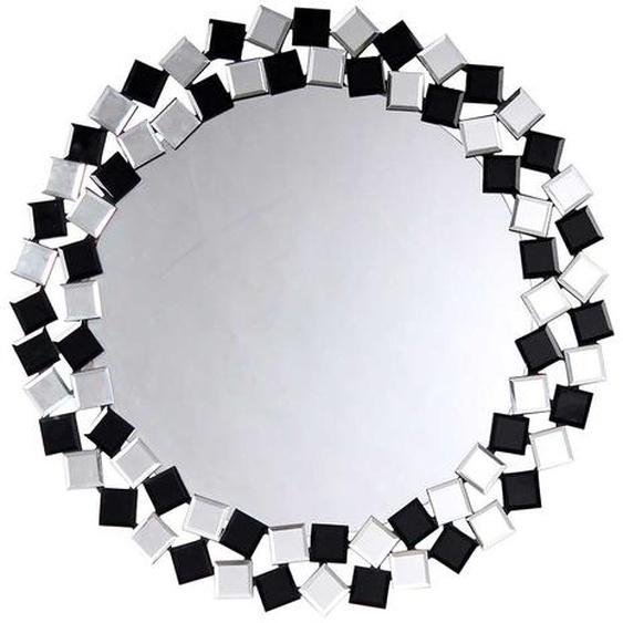 Garderobenspiegel in Schwarz und Silberfarben 80 cm breit